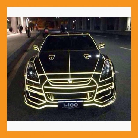 51yd reflective pinstripe tape car decal helmet motorcycle safety tron 3 color
