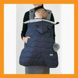 Navy Baby Carrier Sling Cover Winter Backpack Warmer Weather Windstopper Protect