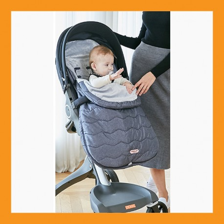 Baby Stroller Bunting Cover Footmuff Sleeping Bag Weather Windstopper Blue