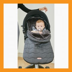 Baby Stroller Bunting Cover Footmuff Sleeping Bag Weather Windstopper Black