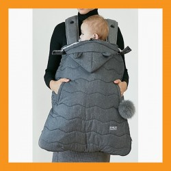 Premium Baby Carrier Sling Cover Winter Backpack Warmer Weather Windstopper Black