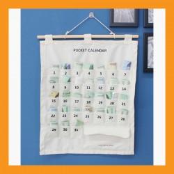 white pocket money calendar monthly moneybox save cotton medicine storage kid