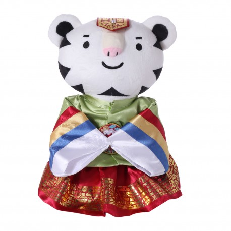 2018 Winter Olympic Merchandise Mascot 30cm Doll Soohorang Korean Hanbok - Bridegroom