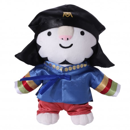 2018 Winter Olympic Merchandise Mascot 30cm Doll Soohorang Korean Hanbok - Boy
