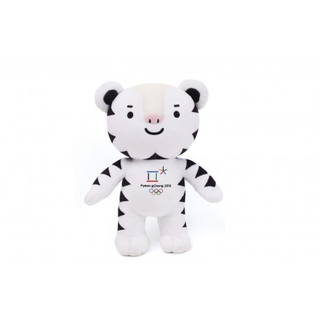 2018 Winter Olympic Merchandise 20cm Mascot Doll Set Soohorang Tiger Bandabi Bear