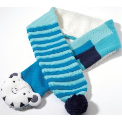 2018 Winter Olympic Merchandise Kid Muffler Scarf Mascot Soohorang Tiger Apparel - Blue