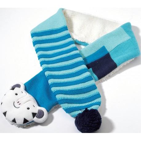 2018 Winter Olympic Merchandise Kid Muffler Scarf Mascot Soohorang Tiger Apparel - Pink