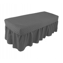 Massage table skirt spa bed cover linen valance sheet salon 14 color - face hole
