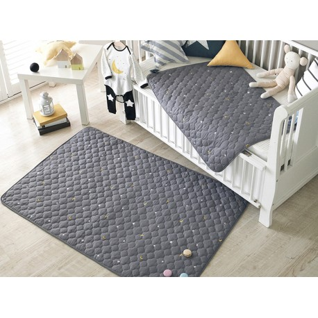 Embroidered Cotton Baby Quilt Blanket Duvet Pad Waterproof Bed Sheet 2 Size