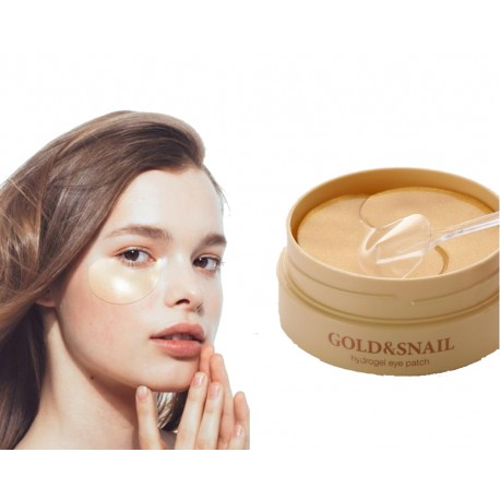 Gold & Snail 60 Under Eye Mask Hydrogel Patch Anti Aging Dark Circle Nasolabial Fold Pad