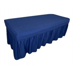 Quilted Spa Table Skirt Massage Bed Cover Salon Valance Custom Made