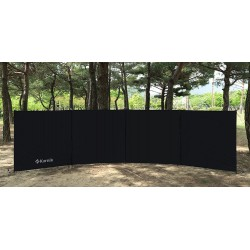 Camping Windbreak Windscreen Privacy Screen Wall Pole Beach Outdoor Folding