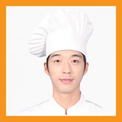snap chef beret hat restaurant bar hotel uniform size adjustable clothing cook kitchen