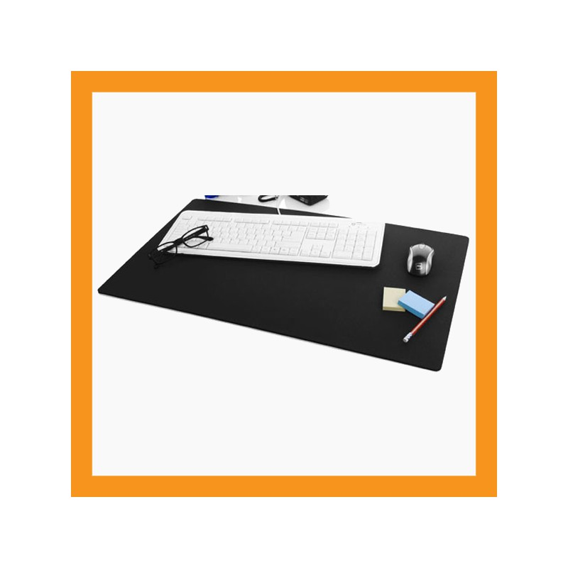 Black Large Mouse Pad Neoprene Desk Mat 6mm Foam Computer Notebook Keyboard Accessory