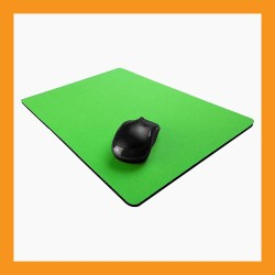 green mouse pad skin neoprene 6mm foam elastic non slip computer laptop accessory