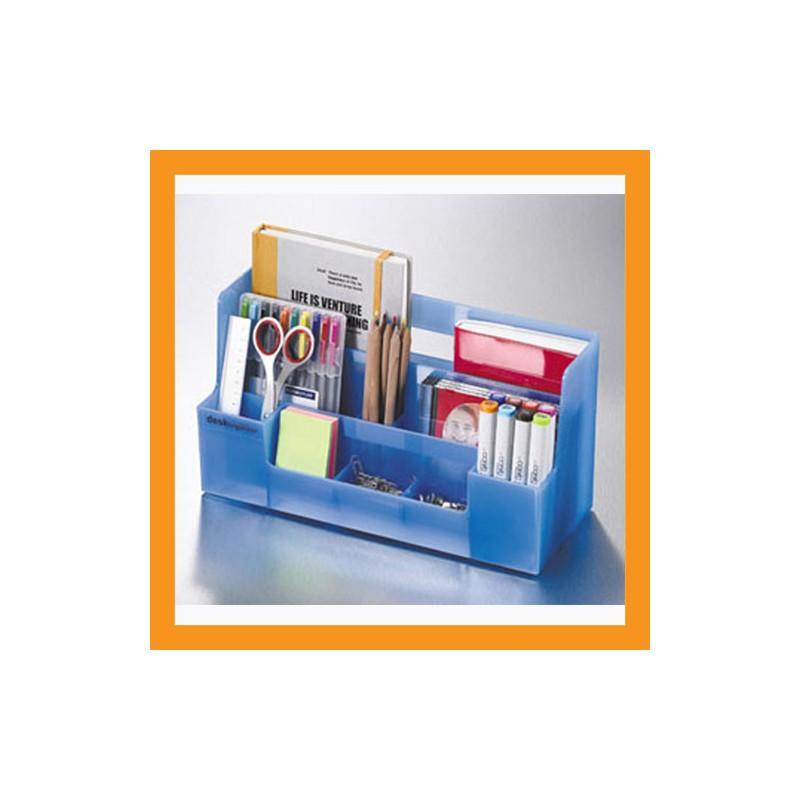 Blue Desk Organizer Office Caddy Storage Stationery Box Accessory Caddy  Stand Tray