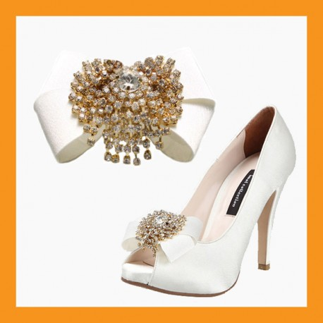 Wedding shoe decorative corsages perfect to transform old shoes into luxurious wedding shoes corsages bridal ribbons cubic accessory satin clip heel flat women junglespirit Image collections
