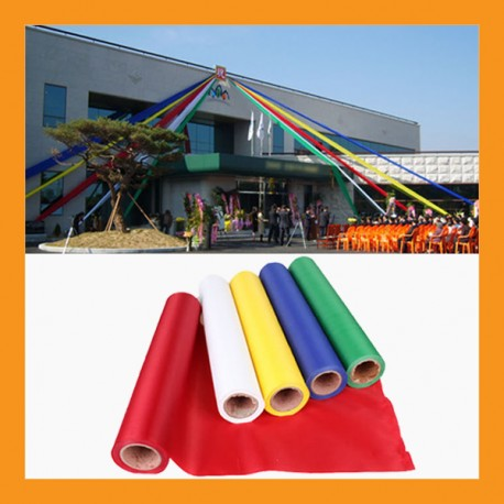 five cardinal colors banner outdoor promotion sport event string ribbon party